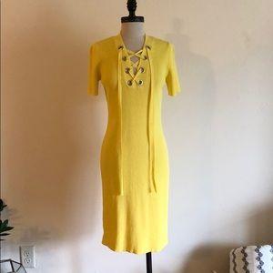 Michael Kors ribbed lace up dress